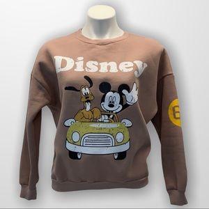 DISNEY Fleece Sweatshirt by SEVEN7 Size Medium